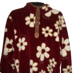 Orage Burgundy Fleece Sweater Girl Medium 10 12